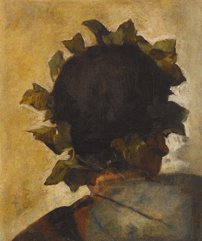 """Thomas COUTURE (Senlis 1815-Villiers-le-bel 1879) Etude de tête pour les """"Romains de la décadence"""", 1847. Musée Grobet-Labadié, Marseille."""