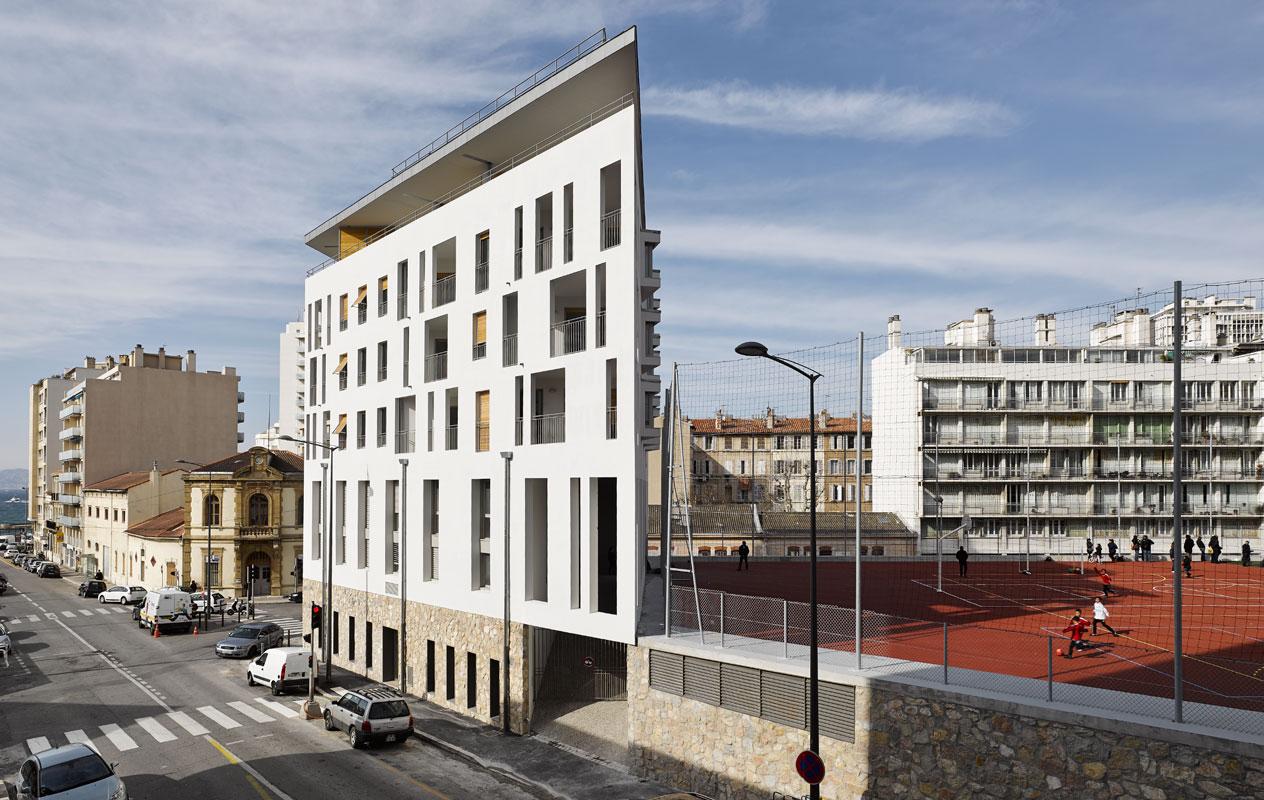 Architectes : Jean-Michel battesti architectes et associés résidence urbaine tasso, Marseille.