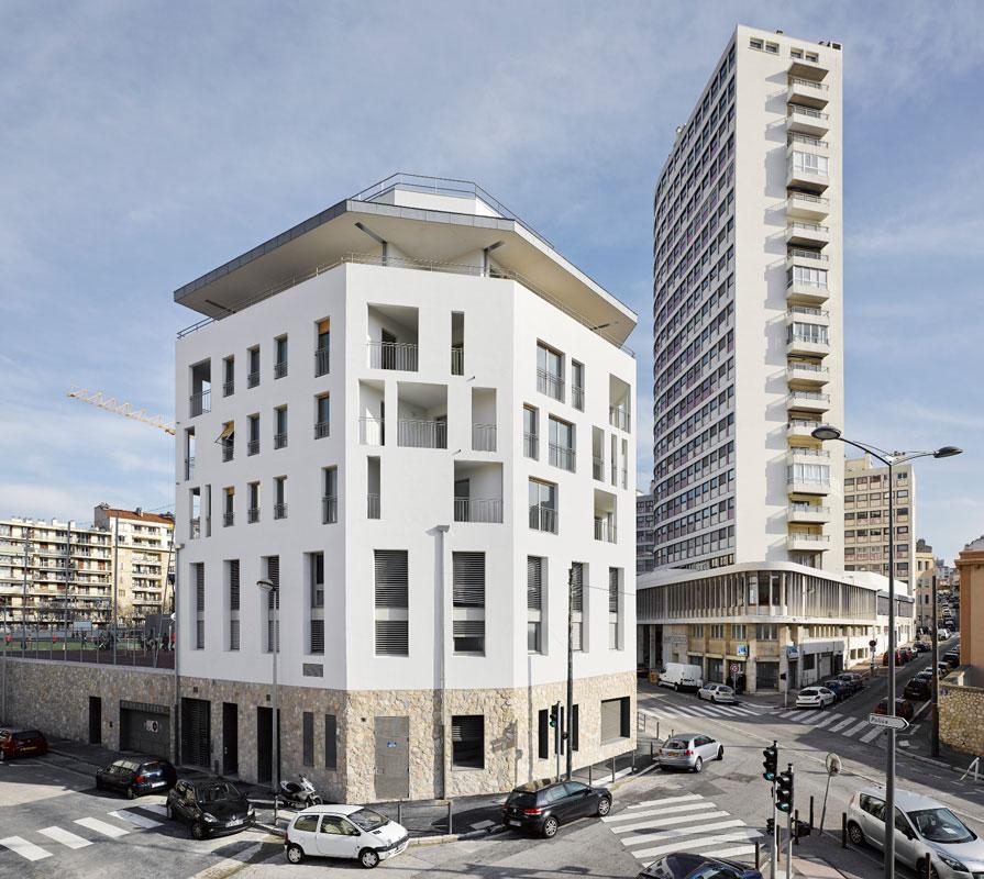 Architecte : Jean-Michel Battesti Architectes et Associés. Résidence Urbaine Tasso, Marseille