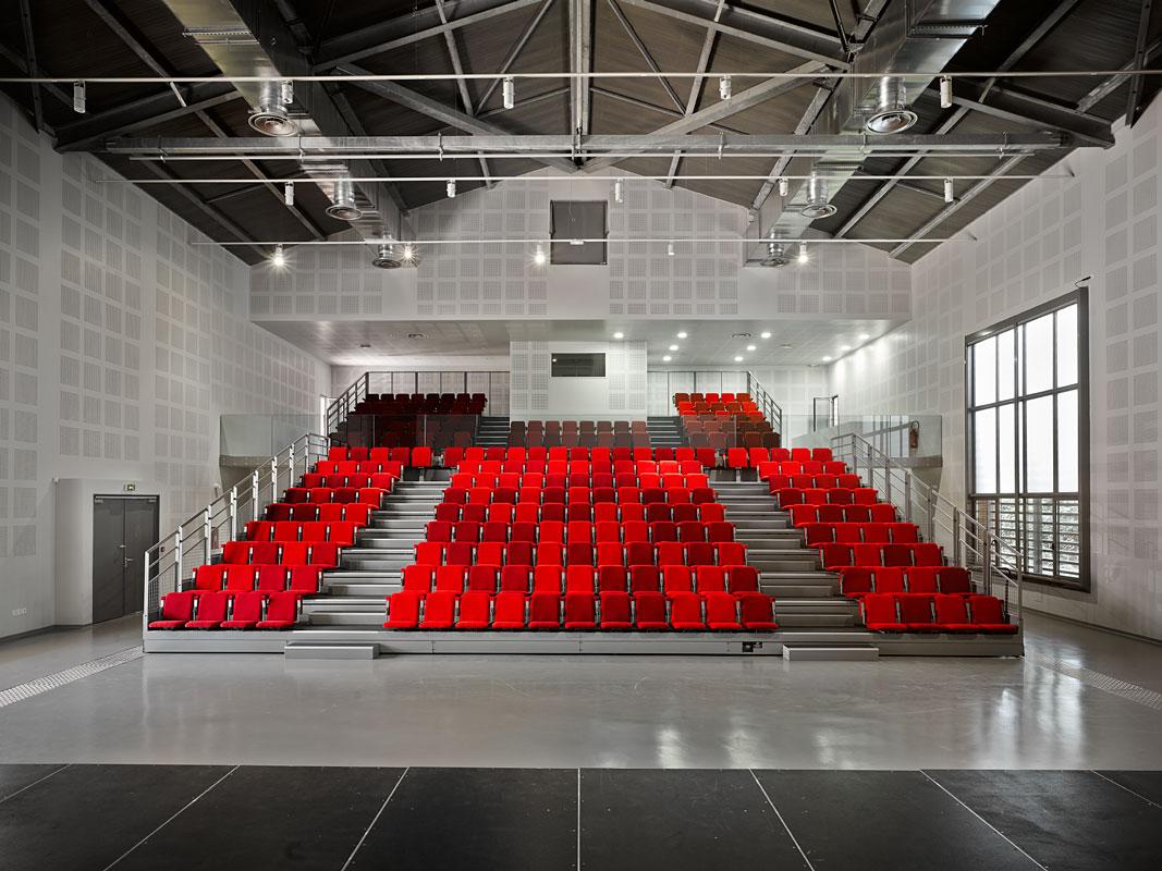 Architectes Leteissier & Corriol Salle des fêtes / Ecole de Musique des Milles.